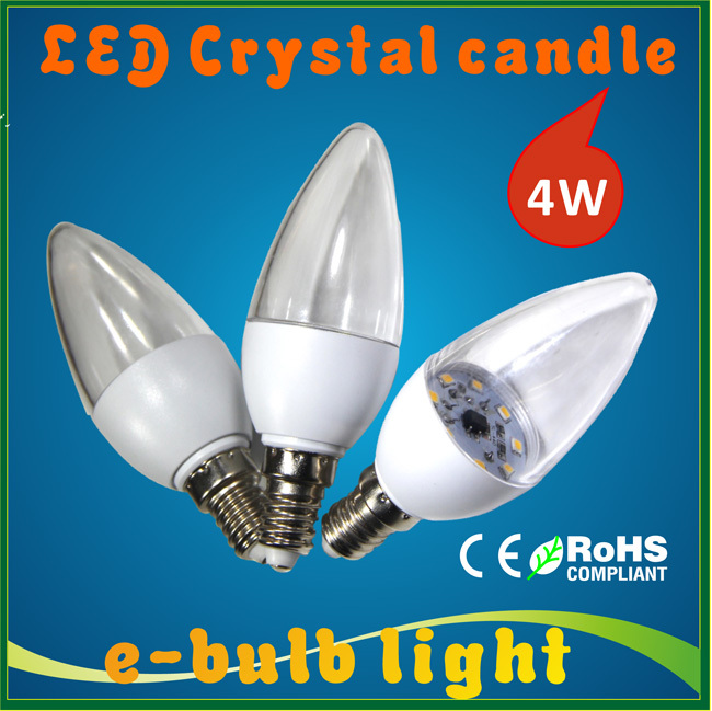 E14 led 5W candle bulb lamp LED Crystal candle lightbulb SMD2835 Chandelier led plastic shell 220v 230v 240v(China (Mainland))