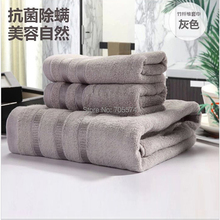 Gros! 100% fiber de bambou ultra douceur épais bambou serviette de serviette de visage serviettes de bain peignoir 2 pcs(Hong Kong)
