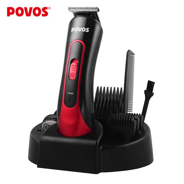Povos рэш электрический стрижки волос профессиональные титана волос триммер для мужчин ...