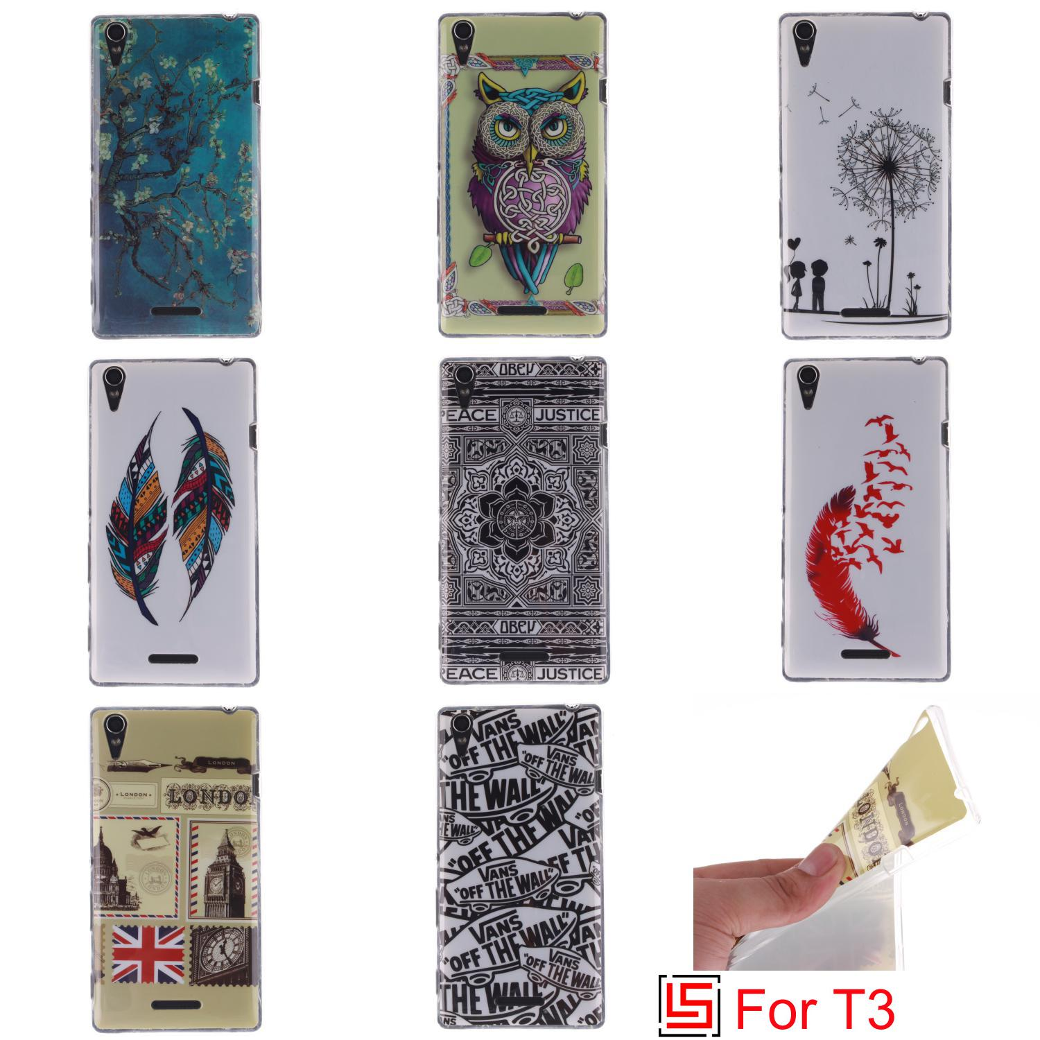 New Ultra Thin TPU Silicone Soft Phone Cell Case capinha capa shell Cover Bag For Sony Xperia Experia Xperi T3 Lion Feather(China (Mainland))