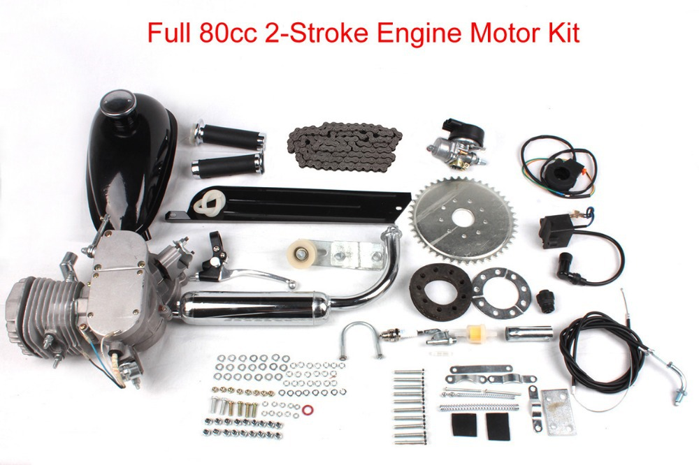 """(Ship from US) Motorized Bicycle Bike 80cc 2 Stroke Petrol Gas Engine Motor Kit DIY Ebike Will fits 26"""" or 28""""(China (Mainland))"""
