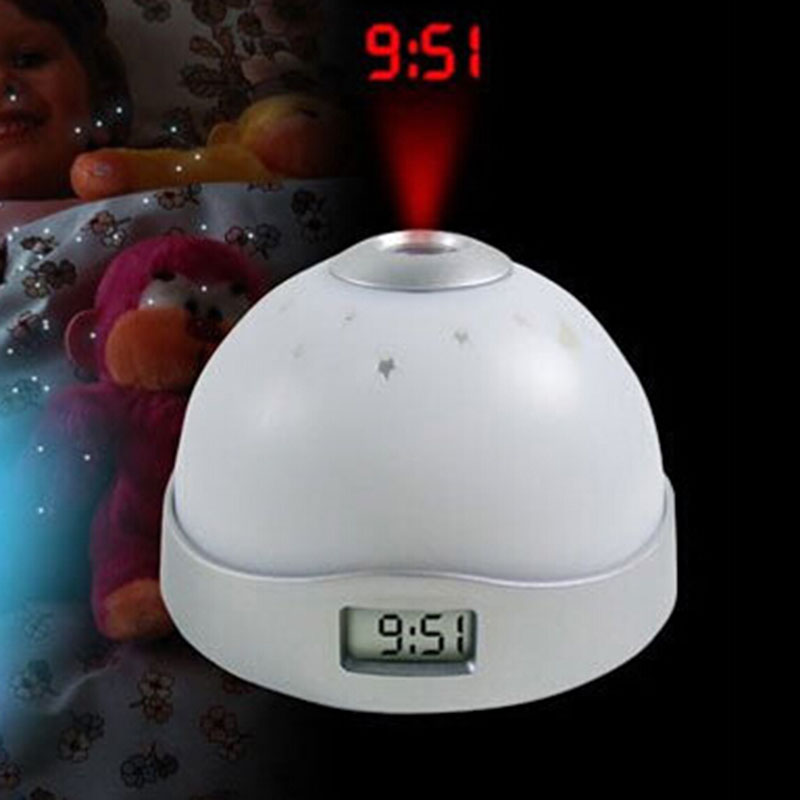 2016 New Colorful Projection Clock three-color Magic Color Projection Clock Digital Clock Free Shipping(China (Mainland))