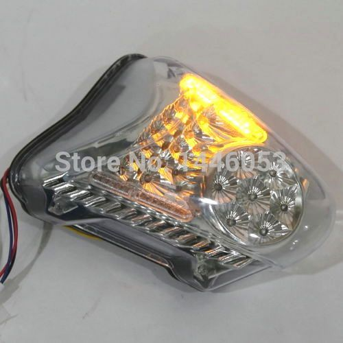 LED Clear Tail light Turn Signals For SUZUKI HAYABUSA GSXR1300 08-12 09 10 11(China (Mainland))