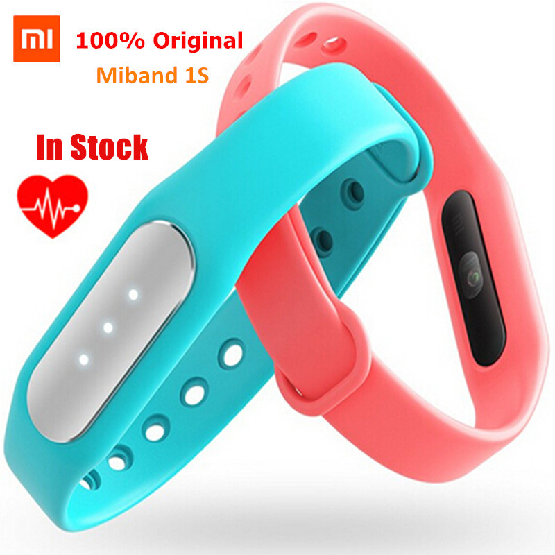 Newest 100 Original Xiaomi Mi Band 1S Smart Miband Heart Rate Monitor Bracelet For Android IOS