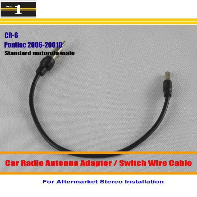 Aftermarket Stereo Antenna Wire Standard Motorola Male / For Pontiac Solstice Torrent Vibe / Car Radio Antenna Adapter(China (Mainland))