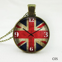 New Brand Fashion Cabochon Jewelry Vintage Choker Antique Silver Alloy Galaxy Collar Clock Statement Necklaces For