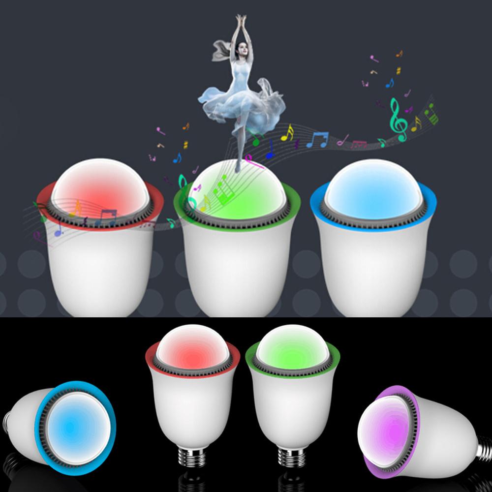 2016 LED Smart Bulb 5w Mini Bluetooth Speaker WIFI Light Color Temperature+Brightness Adjustable play - Jian Hong International Trade Co., Ltd. store
