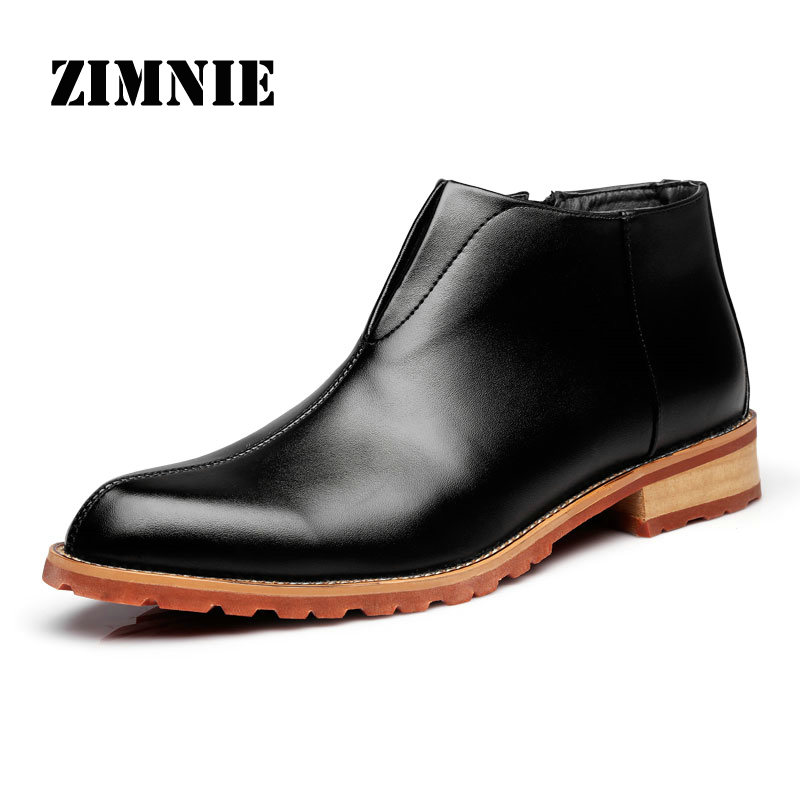 Men Boots Fashion High Quality Comfortable Ankle Boots Casual Autumn Genuine Leather Boots Men Flat Shoes Business Shoes(China (Mainland))