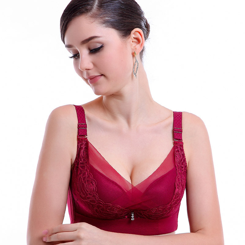 015 Top Fashion Sutian The Explosion Of Ladies Gather Adjusting Bra Steel Ring Can Be Inserted Memory Brand Underwear Wholesale(China (Mainland))