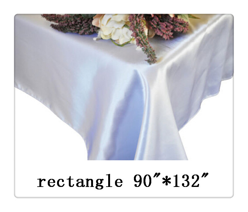 """Free shipping rectangle tablecloth size 90""""*132"""" color white for wedding decoration hotel table cloth(China (Mainland))"""