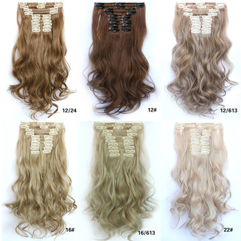 Wavy Clip In Hair Extensions, 12pcs/set
