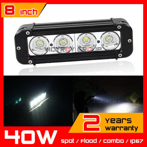 8inch 40W CREE LED Work Light Bar for Tractor ATV Motorcycle LED Bar Offroad 4X4 Fog light External LED Work Light Seckill 36w(China (Mainland))