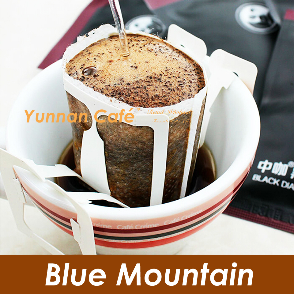 Black Diamond Drip Coffee Medium Roast Blue Mountain Flavor Without Sugar 10Gx10PCS 100G 0 22LB Global