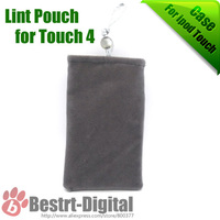 1Pcs Only, Hot Lint Pouch for ipod touch 4 & 5, for iphone 5s Soft bag for ipod touch