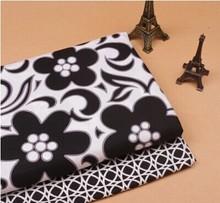 Colorful fabric VB retro black white flower Sewing Patchwork handmade DIY clothing fabrics cotton cloth width - International marketing store