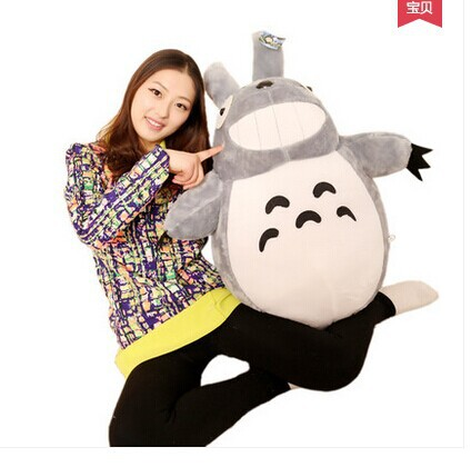 stuffed toy , Japan anime plush toy ,large 90cm Hayao Miyazaki Totoro doll , birthday gift w2706(China (Mainland))