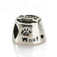 Fashion Perles Jewelry Cute Silver love dog bone lunch box Charms Fit Diy Pandora Charms Original Bracelet Best Wholesale Beads(China (Mainland))