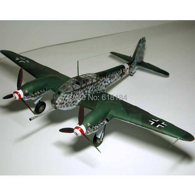 2016 new Airplane paper models 1/33 scale WW2 Germany ME 410 Heavy Fighter bomber 3d puzzles diy Military paper craft for adults(China (Mainland))