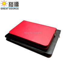 PU leather 9 ring zipper b5 leather ring binder portfolio
