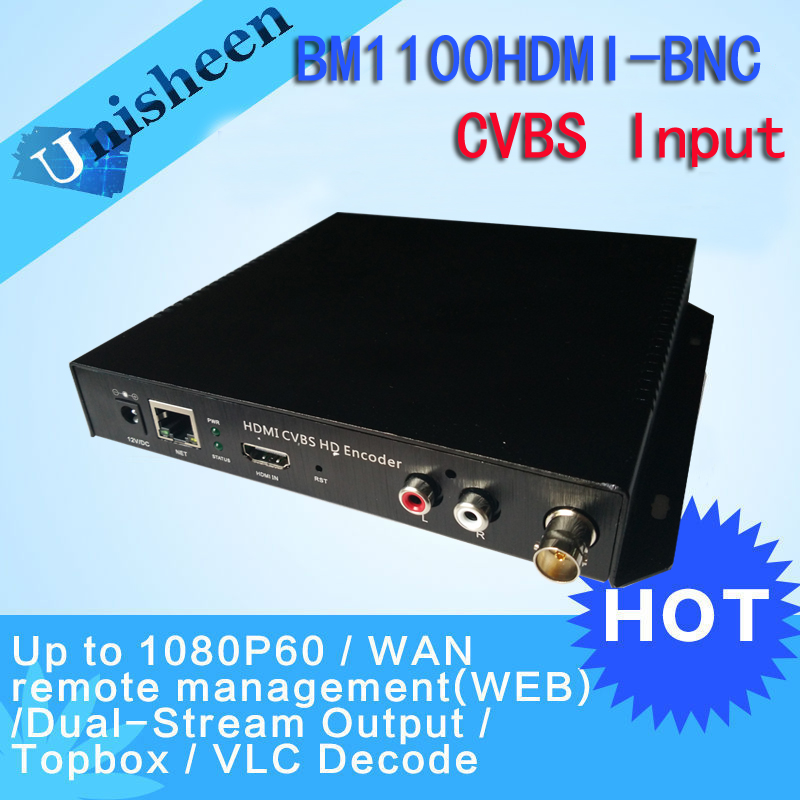 MPEG-4 AVC H.264 HDMI Video Encoder CVBS BNC encoder HDMI Transmitter live Broadcast encoder H264 encoder(China (Mainland))