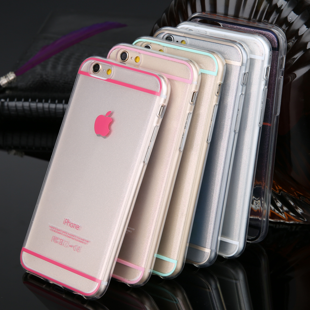 Top Sales Glitter Soft TPU Cover Case for iphone 4 4s 4G 5 5s 5G Fashion Ultra thin Sparkle cell phone back housing New Arrival(China (Mainland))