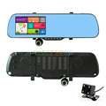 5 0 Touch Android GPS WiFi FHD 1080P Dash Camera Parking Rearview Car Mirror Camera Video