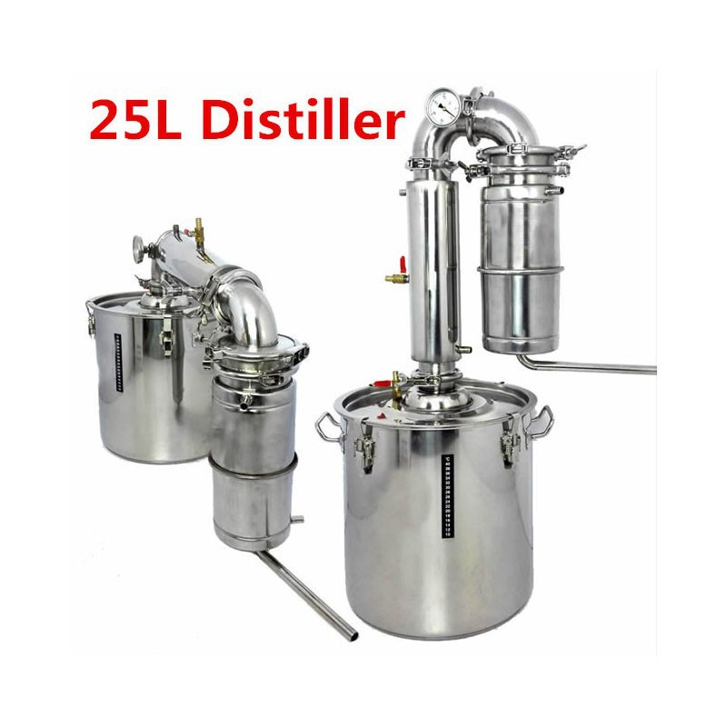 bar sets Capacity 25L Household Stainless Steel Alcohol Distiller Wine Brewing Device Spirits(Alcohol) Distillation Boiler(China (Mainland))