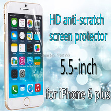 2 pcs/lot – HD screen protector for iPhone 6 plus (5.5-inch ) clear screen protective film screen guard – With retail packaging