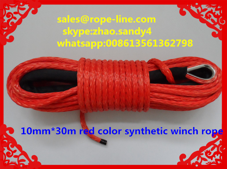 10mm*30m atv synthetic winch rope,winch cable for offroad jeep(China (Mainland))