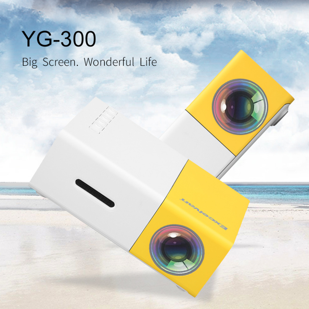 YG300 LCD Portable Projector 400-600 LM Mini Projector for Video Games Home Theatre Movie Support HDMI USB SD Home Media Player(China (Mainland))