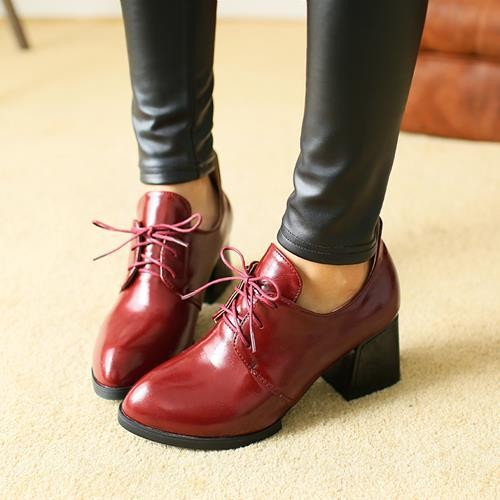 Hot sale big size  2015 New Womens Office Ladies dress shoes High Heels women pumps lace up leather shoes woman<br><br>Aliexpress