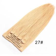 Maxglam прямые волосы на заколках 140 г/10 шт 100 г/9 шт бразильские волосы remy для наращивания 1 # 1B #2 #4 #27 #613(China)