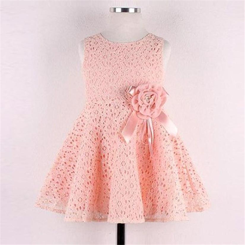 Delicate Hot! Summer Kids Cute Girls 1PC Girls Kids Full Lace Floral One Piece Dress Child Princess Party Dress Ju7