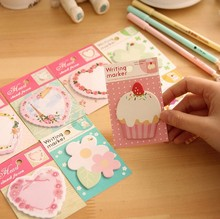 Cute Cartoon Post-it Notes Index Flag Sticky Notes Paper Stickers Memo Pad Bookmark Marker Trd