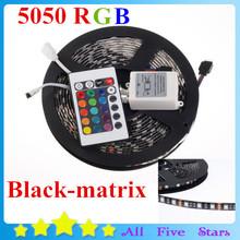 Buy Waterproof 5050 Blackboard 5050 LED Strip RGB Black-matrix Ribbon 60Leds/M 5050 Blackbase 24Key controller Free for $13.94 in AliExpress store