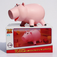 "Kawaii 8""20cm Toy Story Hamm Piggy Bank Pink Pig Coin Box PVC Model Toys For Children(China (Mainland))"