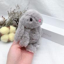 Nova Chegada Bonito Fofo Macio Animal de Pelúcia Recheado de Coelho Coelho Boneca de Brinquedo Boneca Da Moda Para O Bebé Kid Presente Animal keychain(China)