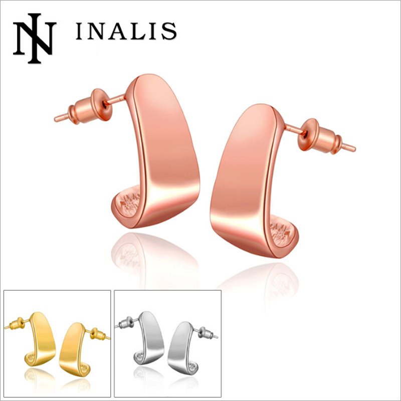 High Quality Electroplating Gold Stud Earrings 18K Hypoallergenic Fashion Jewelry(China (Mainland))