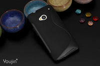 NO TRACKING, Ultra-thin Soft Super Shield Shell Case For HTC One 802t/802w/802d,For HTC One dual sim phone case + Screen Film