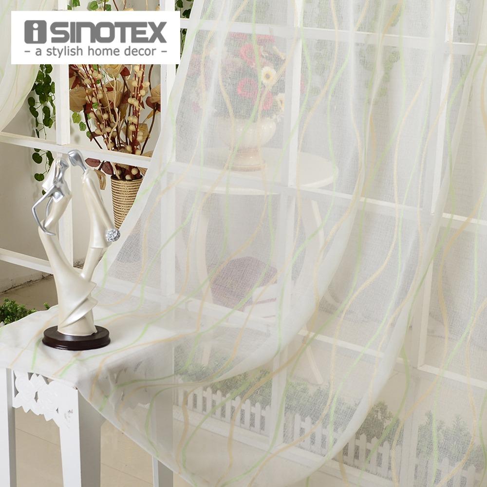Compra cortinas de rayas verdes online al por mayor de for Cortinas transparentes salon