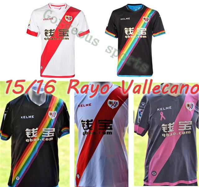 2015 2016 Rayo Vallecano Soccer Jerseys thai quality home away shirts KAKUKA ABDOULAYE BUENO LEO BAPTISTAO MANUCHO RAYO(China (Mainland))