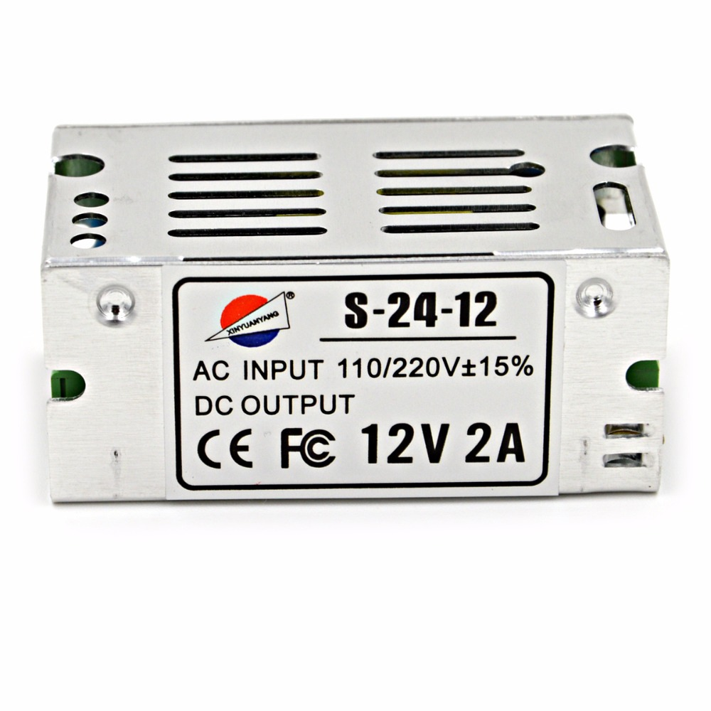 Universal 12V 2A 24W Switching Switch Power Supply Transformer 110v 220v AC to dc for LED Strip Light Lighting AC-DC SMPS(China (Mainland))