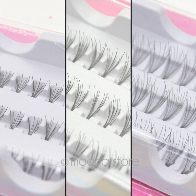 60pcs Women Fashion Makeup Individual Black False Eyelash Cluster Extension Set 8 10 12mm False Eye