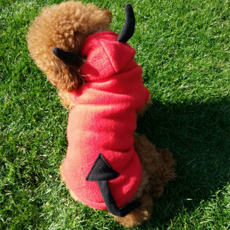 Funny Pets Dogs Clothing Halloween Dog Clothes Demon Cosplay Costume Puppy Poodle Chihuahua Coat Jacket pets Outfit(China (Mainland))