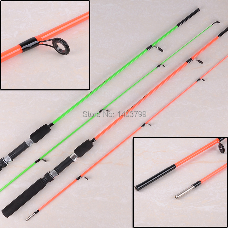 Free shipping orange green sale new ice fishing rod for Shipping fishing rods