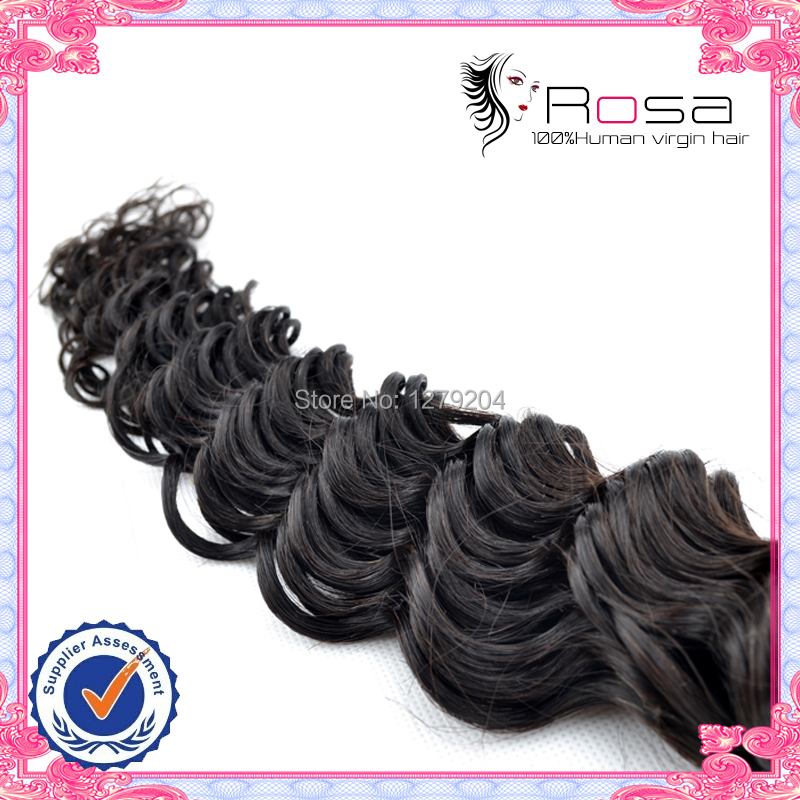 Rosa EX10 livraison gratuite 100% produits de cheveux humains vierge extensions de cheveux peruvian pérou vague profonde cheveux 1 pc lot 50 g/pc(China (Mainland))
