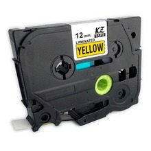 10PK  TZ-631 TZe631 Black on  Yellow tape 1/2 inch 12mm for Brother P-Touch label printer