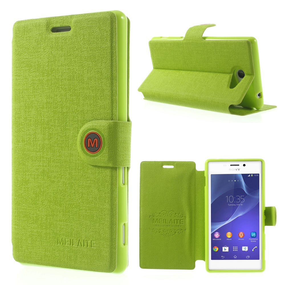 Buy Flip Case Sony Xperia M2 Aqua M 2 Dual S50h D2302 M2aqua D2303 2014 New Mlt Oracle Grain Magnetic Leather Cover D2305