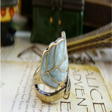 12pcs Retro Antique Silver Bronze Punk Rock Gothic Ring Mask  Super quality leaves  colored glaze 60357
