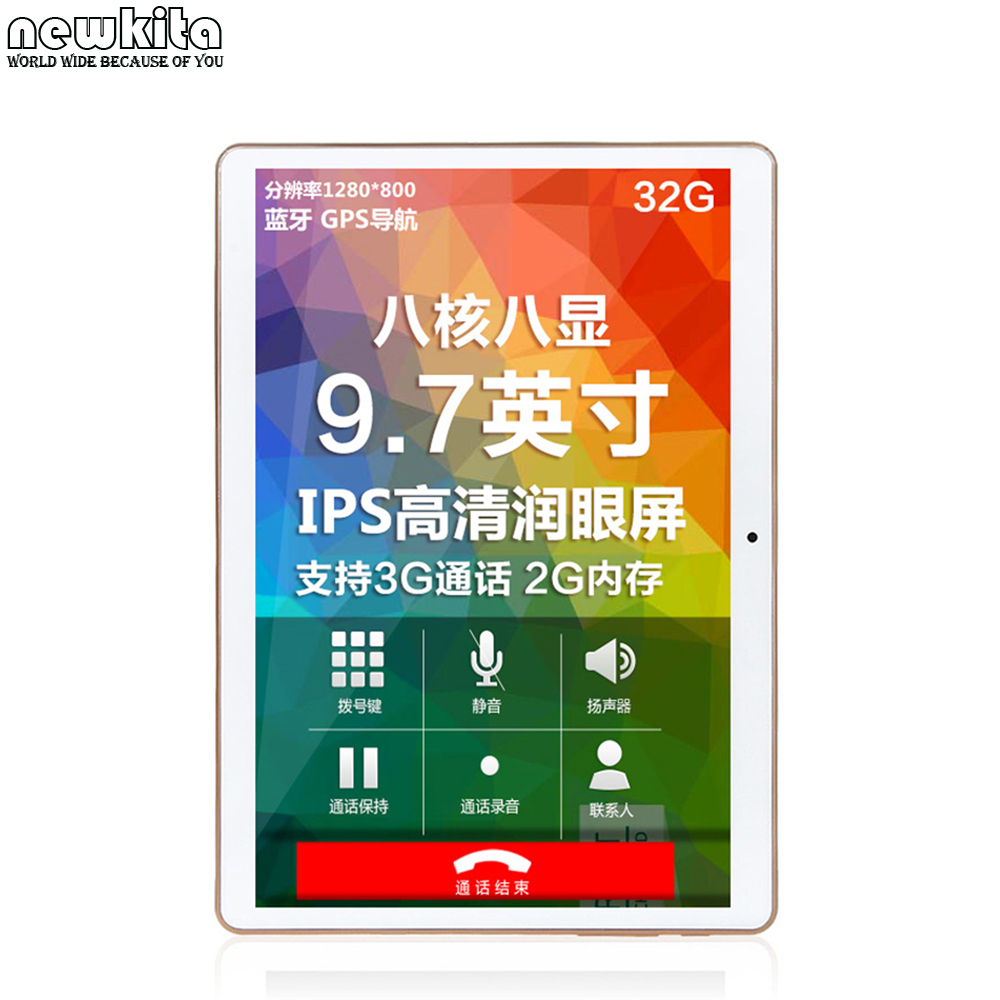 """Newkita 9.6"""" Quad Core 3G Tablet Android 5.1 ROM 16GB Phablet Pad 1280x800 IPS GPS Bluetooth Tablet PCs 10 inch(China (Mainland))"""